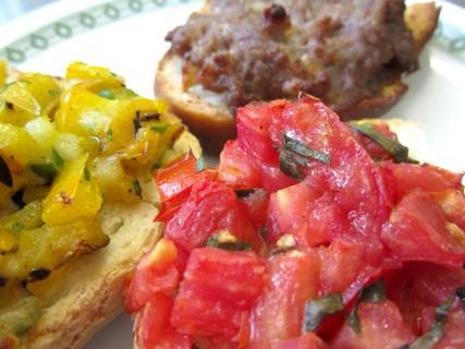 Crostini carne verdure orto cucina
