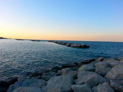 Tramonto spiaggia igea marina rimini